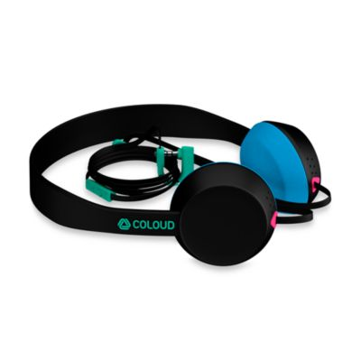 Coloud The Knock Headphones in Black/Cyan