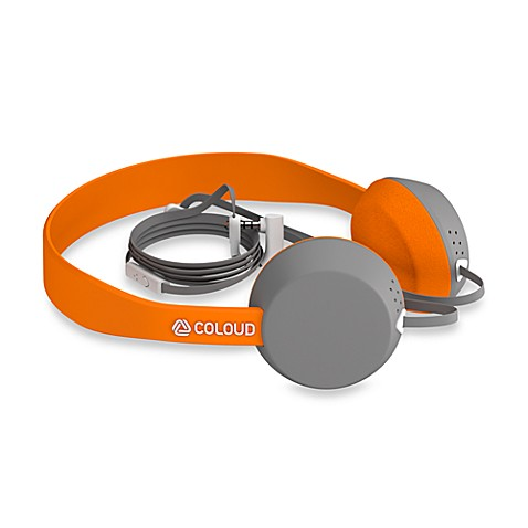 Coloud KNOCK Blocks Headphones in Grey/Orange