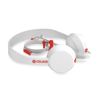 Coloud The Knock Headphones in White/Red