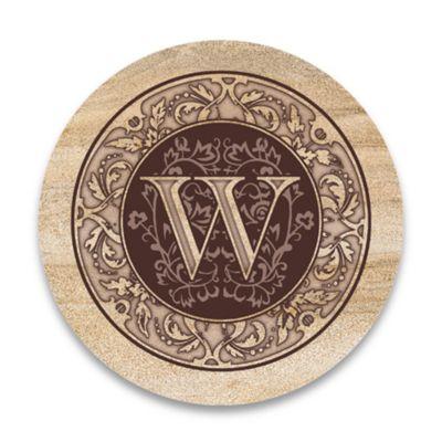 "Monogram Letter ""W"" Coasters (Set of 4)"
