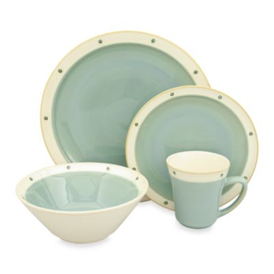16-Piece Aqua Dinnerware Set