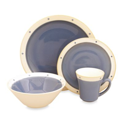 Sango Newport Blue 16-Piece Dinnerware Set
