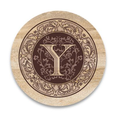 "Monogram Letter ""Y"" Coasters (Set of 4)"