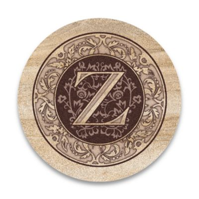 "Monogram Letter ""Z"" Coasters (Set of 4)"