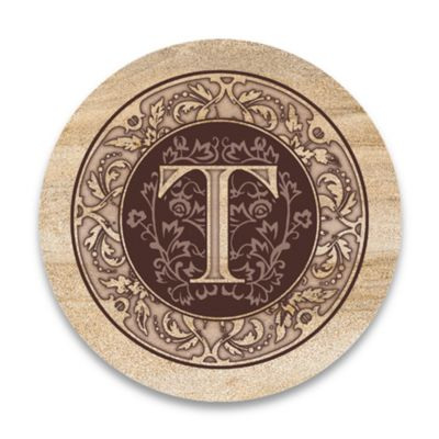 "Monogram Letter ""T"" Coasters (Set of 4)"