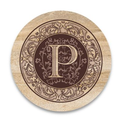 "Monogram Letter ""P"" Coasters (Set of 4)"