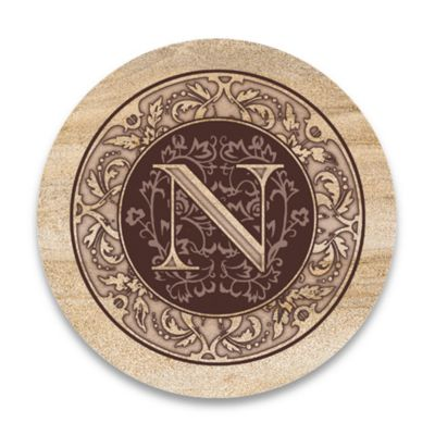 "Monogram Letter ""N"" Coasters (Set of 4)"