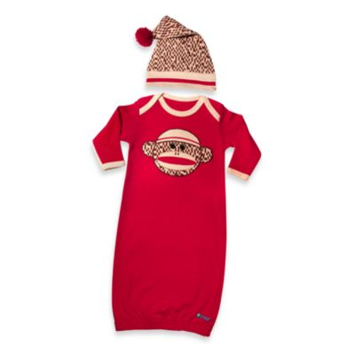 Sozo® Sock Monkey Gown and Cap Set
