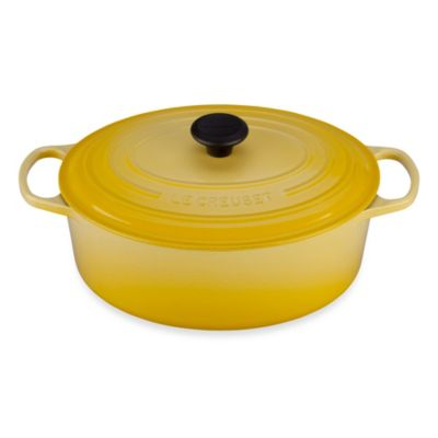 Le Creuset Signature 6.75 Quart Oval French Oven in Soleil