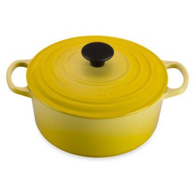 Yellow Cast Iron Cookware