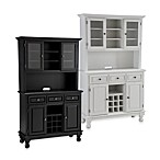 Home Styles Premium Wood Top Buffet/Server with Hutch