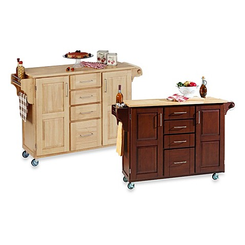 Home Styles Create-a-Cart Wood Top Kitchen Cart