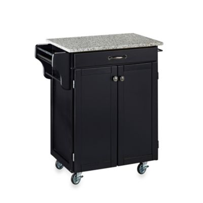 Home Styles Cuisine Speckled Granite Top Kitchen Cart