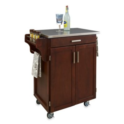 Home Styles Cuisine Stainless Top Kitchen Cart