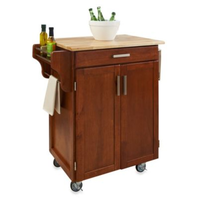 Home Styles Cuisine Wood Top Kitchen Cart