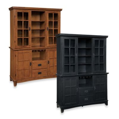 Home Styles Arts & Crafts Wood Buffet with Hutch