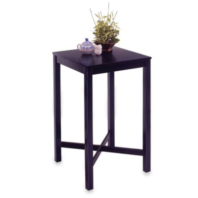 Home Styles Hardwood Bar Table in Black