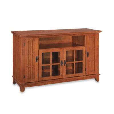 Home Styles Arts & Crafts Credenza with Oak Finish