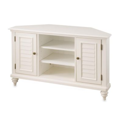 Home Styles Bermuda Corner TV Stand in White