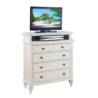 Home Styles Bermuda TV Media Chest in White