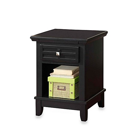 Home Styles Arts & Crafts Nightstand in Black