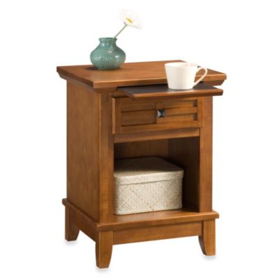 Home Styles Arts & Crafts Nightstand in Oak