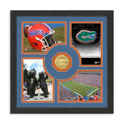 University of Florida 13-Inch x 13-Inch Fan Memories Bronze Coin Photo Mint