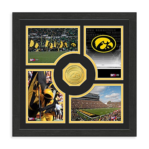 University of Iowa Fan Memories Minted Bronze Coin Photo Frame