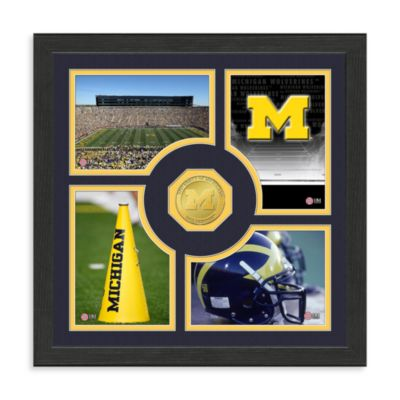 University of Michigan Fan Memories Minted Bronze Coin Photo Frame