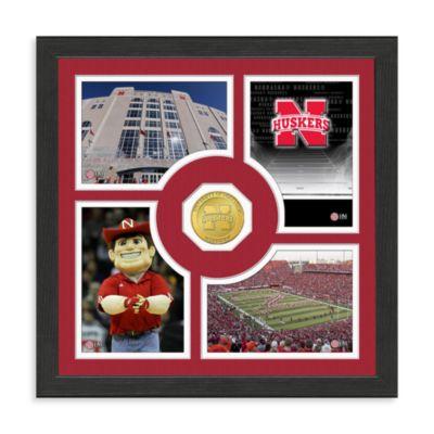 University of Nebraska Fan Memories Minted Bronze Coin Photo Frame