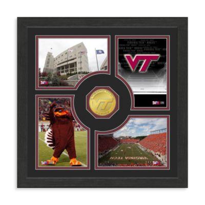 Virginia Tech Fan Memories Minted Bronze Coin Photo Frame