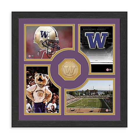 University of Washington Fan Memories Minted Bronze Coin Photo Frame