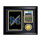 University of Michigan Fan Memories Desktop Photo Mint Frame