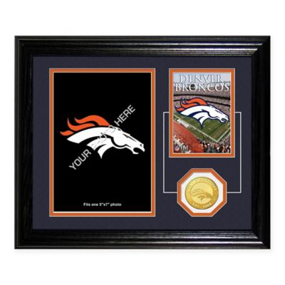 Denver Broncos Fan Memories Desktop Photo Mint Frame