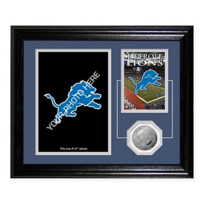 Detroit Lions Fan Memories Desktop Photo Mint Frame