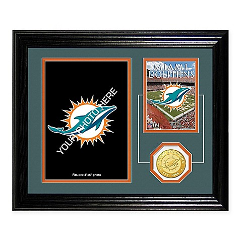 Miami Dolphins Fan Memories Desktop Photo Mint Frame