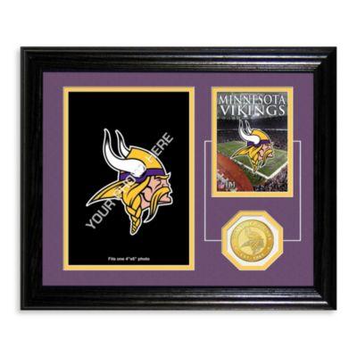 Minnesota Vikings Fan Memories Desktop Photo Mint Frame