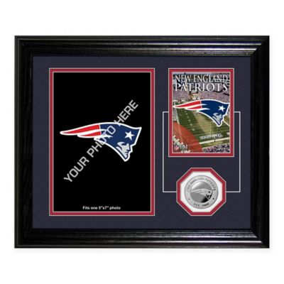 New England Patriots 10-Inch by 12-Inch NFL® Fan Memories Coin Desktop