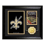 New Orleans Saints 10-Inch x 12-Inch NFL® Fan Memories Coin Desktop Mint