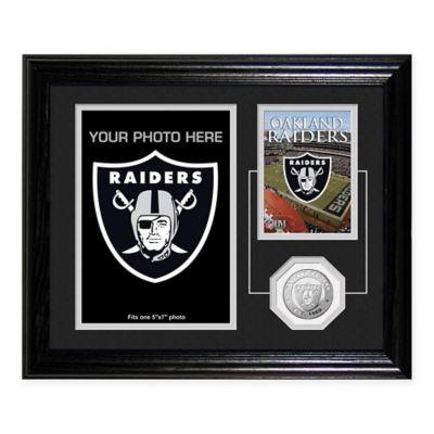 Oakland Raiders Fan Memories Desktop Photo Mint Frame