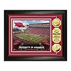 University of Arkansas 13-Inch x 16-Inch Stadium Gold Coin Photo Mint Frame