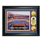 Boise State 13-Inch x 16-Inch Collegiate Stadium Gold Coin Photo Mint Frame