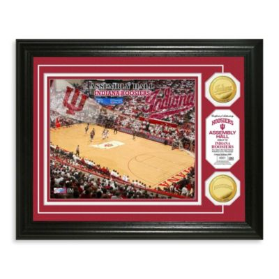Indiana University Collegiate Basketball Court Gold Coin Photo Mint Frame