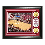Indiana University 13-Inch x 16-Inch Basketball Stadium Gold Coin Photo Frame
