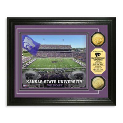 Kansas State 13-Inch x 16-Inch Collegiate Stadium Gold Coin Photo Mint Frame