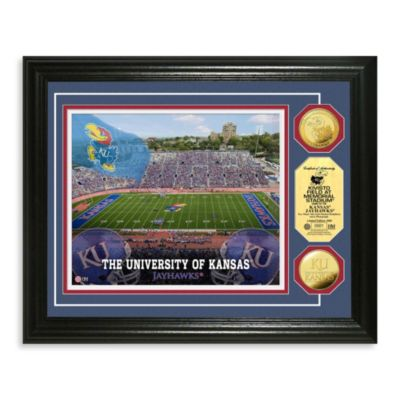 University of Kansas 13-Inch x 16-Inch Stadium Gold Coin Photo Mint Frame