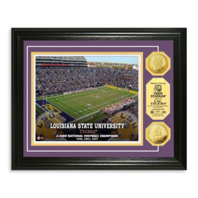 Louisiana State University Collegiate Home Field Gold Coin Photo Mint