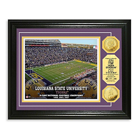 Louisiana State University 13-Inch x 16-Inch Stadium Gold Coin Photo Frame