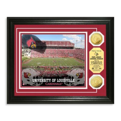 University of Louisville 13-Inch x 16-Inch Stadium Gold Coin Photo Mint Frame