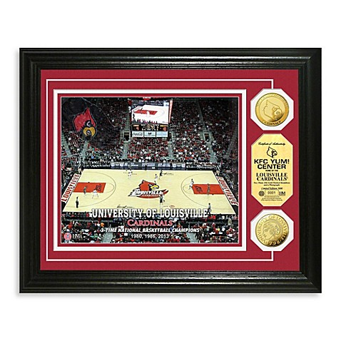 University of Louisville 13-Inch x 16-Inch Basketball Gold Coin Photo Mint Frame